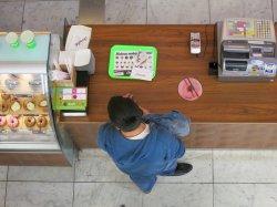 klient czekający na obsługę