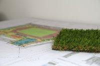 makieta przedstawiająca boisko szkolne